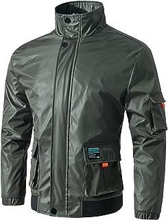 Jueshanzj Men's Stand Collar Jacket