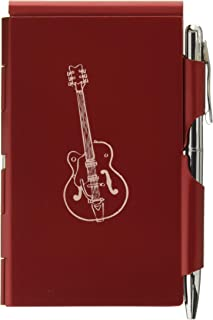 Wellspring Flip Notes-Red Portable Refillable Notepad-Electric Guitar