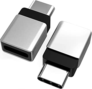 Cellularize USB C Extender Adapter (2 Pack, Silver Metal) PD 100W Quick Charge Type C Dock Extension for Lifeproof Otterbo...