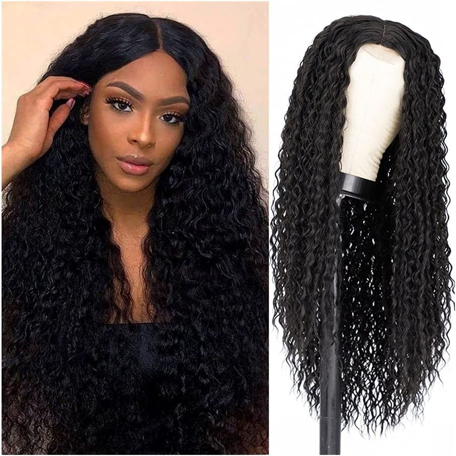 SHUBIAO Lady Long trend rank Wavy Wigs Natural Black for Women Charlotte Mall Curly