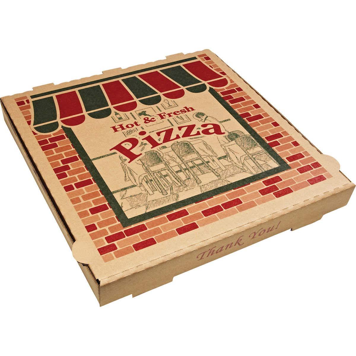 ARV9184314 2021 Corrugated Pizza Boxes Dallas Mall Kraft x 18
