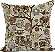 Brentwood Originals Wise Owl Pillow Decorative Pillow, Atlantis
