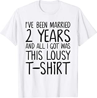 2 Years Anniversary Gifts for Her - Marriage Couples Shirts