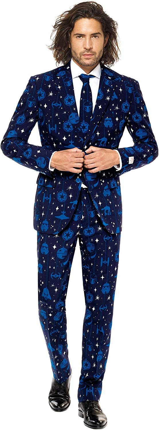 Opposuits Mens Starry Side Suit and Tie