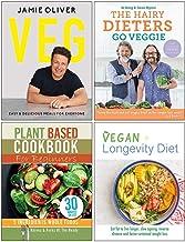 Veg Jamie Oliver [Hardcover], The Hairy Dieters Go Veggie, Plant Based Cookbook For Beginners, The Vegan Longevity Diet 4 ...