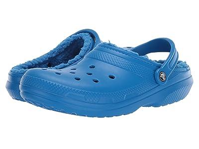 Crocs Classic Lined Clog (Bright Cobalt/Bright Cobalt) Clog Shoes