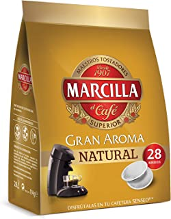Marcilla Café Natural para máquina Senseo - 5 paquetes de 28 monodosis (Total 140 monodosis)