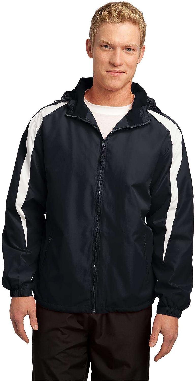 Sport-Tek - Fleece-Lined Colorblock Jacket. JST81 - Black/White_M