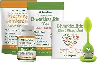 Calming Blends Tea Bundle Pack | Diverticulitis Tea, Morning Comfort Tea, Probiotic, Infuser | Supports Complete Digestive...