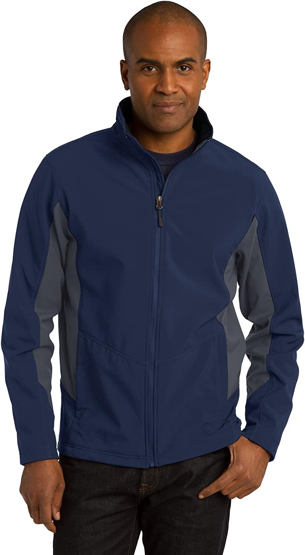 Core Colorblock Soft Shell Jacket XS Dress Blue Navy/ Battleship Grey