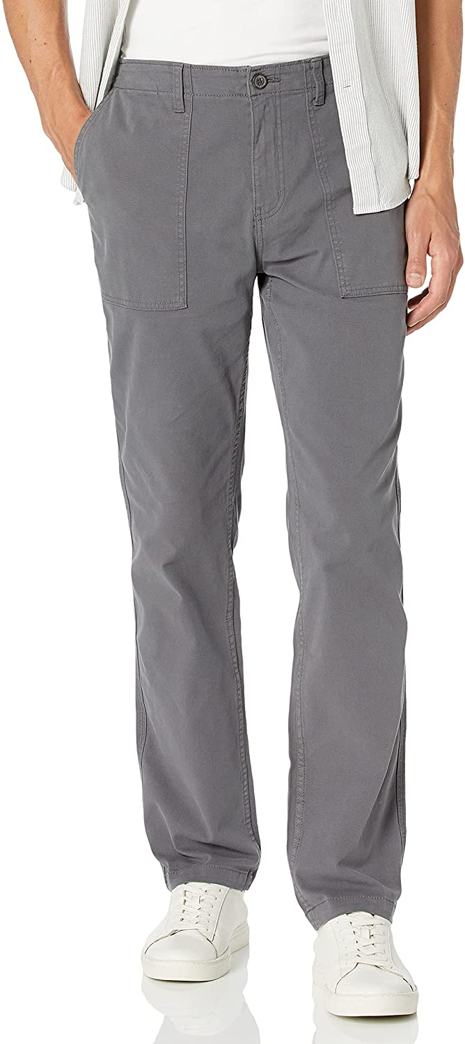 Goodthreads Miami Mall Men's Straight-fit Stretch Industry No. 1 Utility Pant Canvas