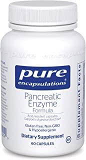 Pure Encapsulations - Pancreatic Enzyme Formula - Hypoallergenic Supplement to Support Proper Digestive Function - 60 Caps...