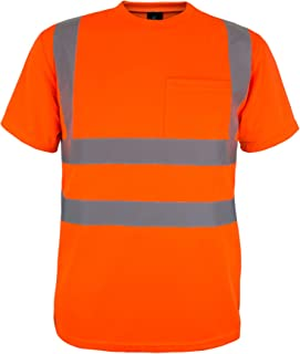 Kolossus 100% Polyester ANSI Class 2 Compliant High Visibility Safety Short Sleeve Safety Shirt