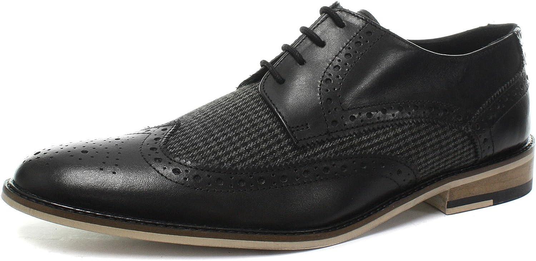 Roamers 4 Eye Wing Cap Gibson svart herr Brogue skor skor skor  hög kvalitet och snabb frakt