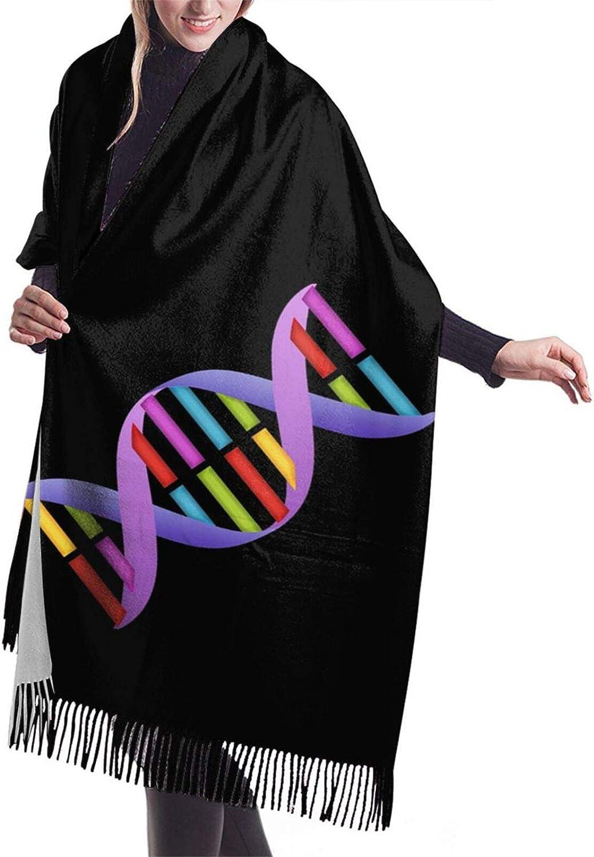 Womens Soft Cashmere Scarf,Genetics Dna Shawl Scarf,Premium Large Pashmina,Warm Wrap Blanket Solid Shawl Elegant Wrap