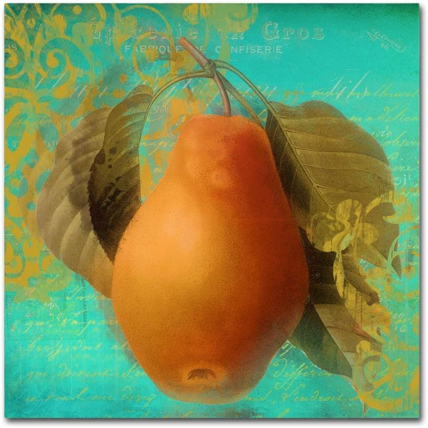 Trademark Fine Art Glowing Fruits IV by color Bakery Canvas Wall Art 14x14