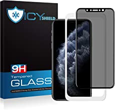 Icy Shield Privacy Glass Screen Protector for iPhone 11 Pro Max and iPhone Xs Max (Full Coverage) Tempered Glass Screen Protector for Apple iPhone 11 Pro Max and iPhone 10S Max (6.5 inches)