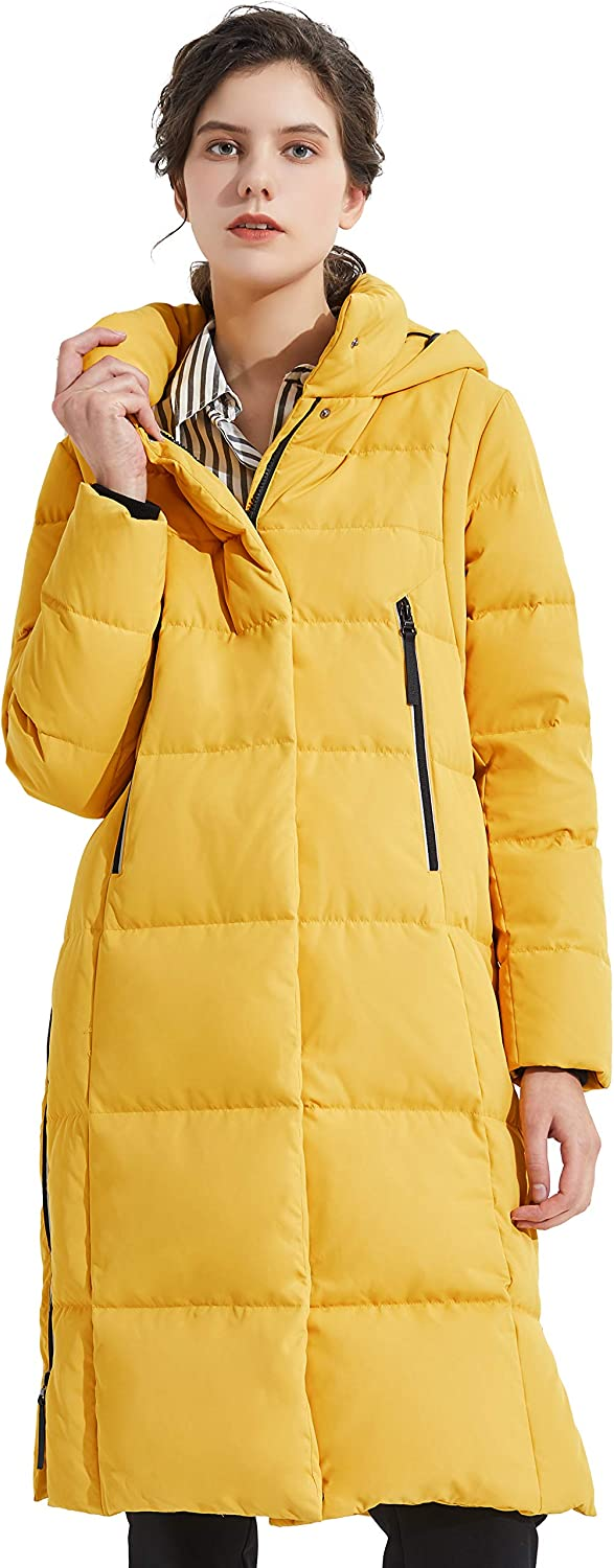 Orolay Women's Thickened Down Jacket Long Winter Coat Hooded Puffer Jacket : Sports & Outdoors