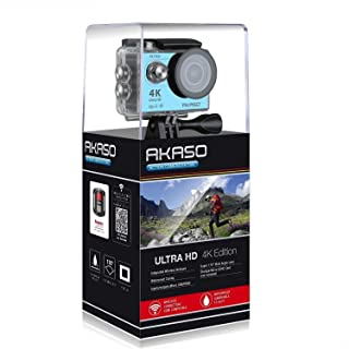 Akaso Action Cameras 4K Resolution, Unavailable Optical Zoom and 2 Inch Screen Size Camcorder - EK7000