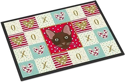 Caroline's Treasures Havana Brown Cat Love Indoor or Outdoor Mat 24x36 doormats, Multicolor