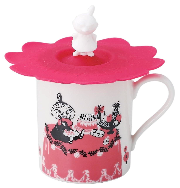 人柄耐えられる精緻化MOOMIN (ムーミン) マグカップ ミイ柄 (シリコン カップカバー付) MM493-11P