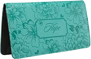 Come On Style Shop Checkbook Cover Hope Inspirational Floral Turquoise