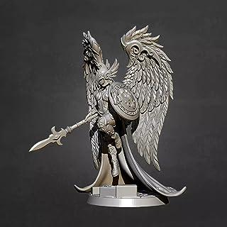 Risjc 50 mm sci-fi-tema forntida fantasy kvinnlig krigare med vingar harts modellsats omonterad och omålad soldatkomponent...