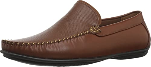 Nunn Bush Men's Quail Valley Venetian Slip-On Driving Style Loafer, Cognac, 9.5 Wide US