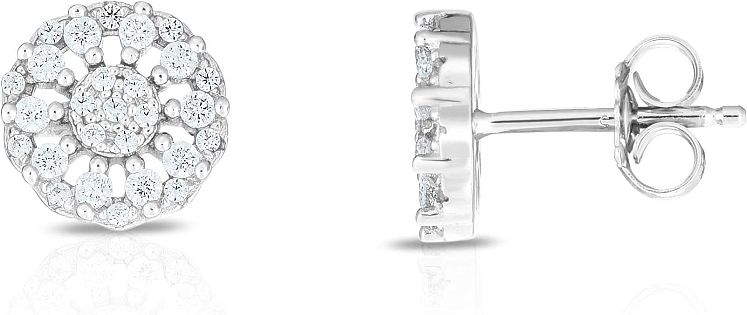 Silver with Rhodium Finish Earring Back Oakland Mall Low price Push Clasp