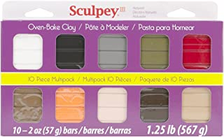 Sculpey Multipack Art Clay III, 10 by 2-Ounce, Natural