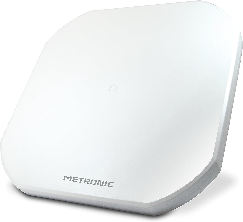 Metronic 498147 - Parabollo satélite Plano (2 Salidas), Color Blanco