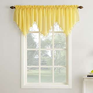 Amazon Com Yellow Valences Draperies Curtains Home Kitchen