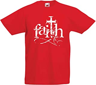 lepni.me Kids T-Shirt Faith in The Lord Jesus Christ - Christian Cross Symbol