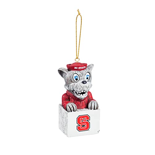 Collegiate Pulse North Carolina State NC State UNIV Wolfpack Wolf Head NCAA Snowflake Christmas Ornament