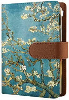 Refillable Organizer with 6 Ring Binder, Handmade Personal Planner Notebook Cover, Travel Journal with 2020-2022 Calendar for Men and Women Almond Blossom - Personal Size