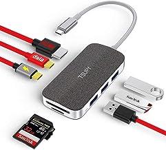 TSUPY HUB USB C Data 8 en 1 Dock USB C 100W Power Delivery Carga,Adaptador Tipo C y HDMI 4k, 3 Puertos USB 3.0,Lectores de...