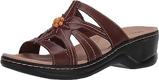 Clarks Women's Lexi Myrtle 2 Sandal, Brown Combi Leather, 85 W US