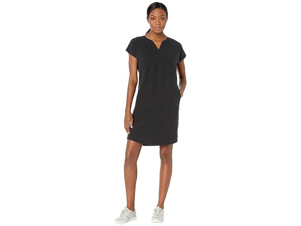 NAU Flaxible Short Sleeve Mod Dress (Caviar) Women