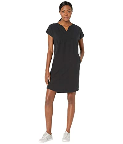 NAU Flaxible Short Sleeve Mod Dress (Caviar) Women