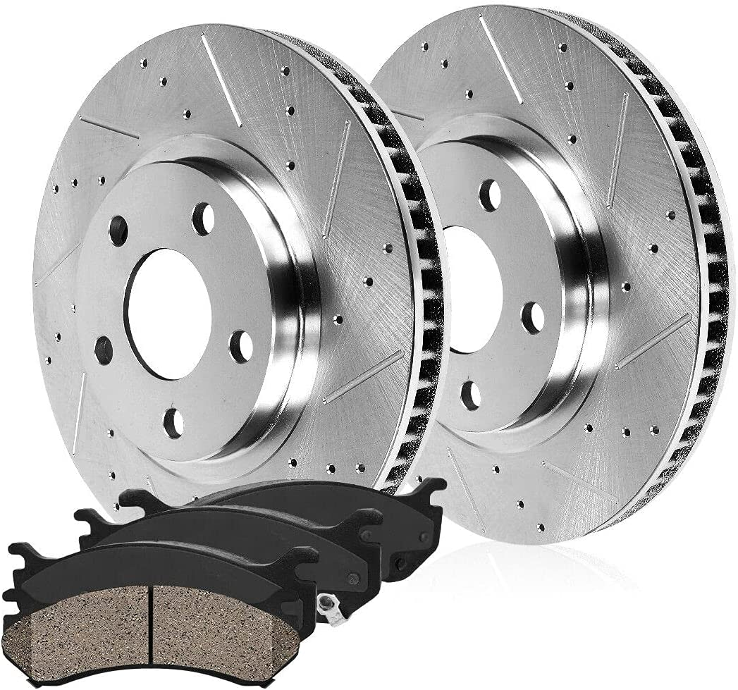 All stores Max 52% OFF are sold Front Drill Slot Brake Rotors Extended Ceramic Carbon 1500 Pads