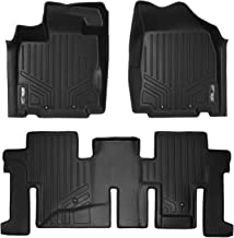 SMARTLINER Custom Fit Floor Mats 2 Row Liner Set Black for 2013-2019 Nissan Pathfinder / 2013 Infiniti JX35 / 2014-2019 QX60
