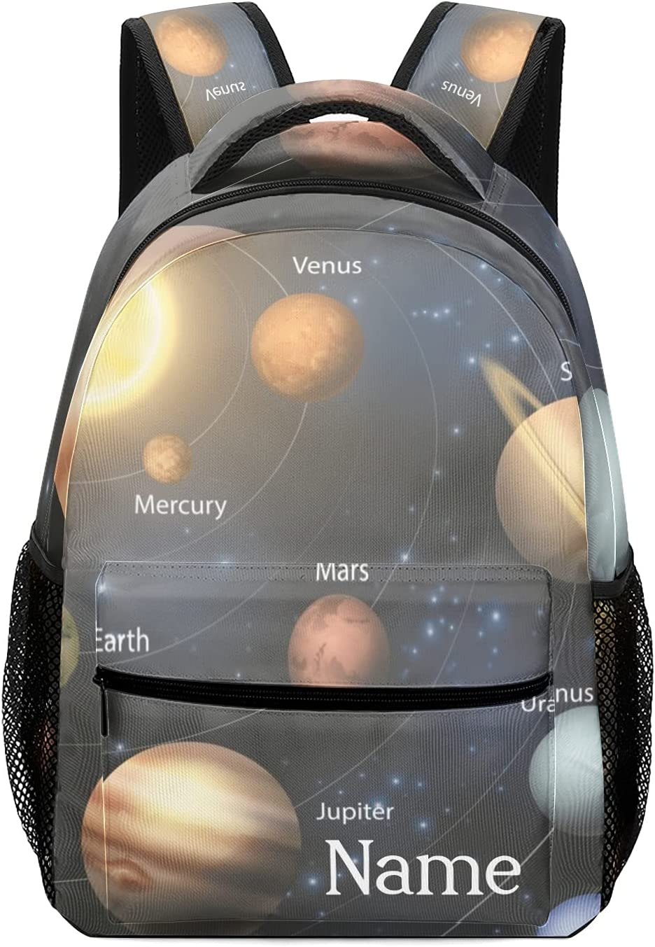 Free Shipping New Personalized Solar System Planet Max 68% OFF Backpack with Bag W School Name