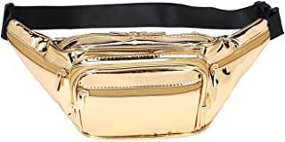Fashion Signature Series Faux Leather 6 Pockets Fanny Pack Waist Pack