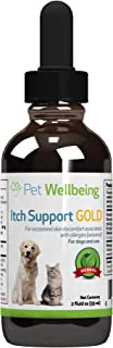 Pet Wellbeing - Itch Support Gold for Dogs for Canine Itchy Skin Due to Allergies