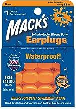 Mack 's kussen zacht vormbare siliconen oordopjes kinderen maat 6 paar / verpakking 6 Pairs(1 Pack) oranje