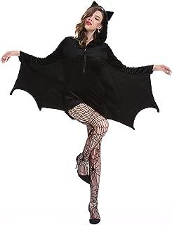 Women's Cozy Vampire Bat Halloween Costume Dress Up