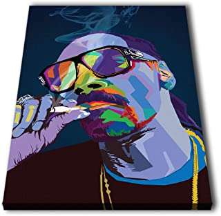 Susu Art - Snoop Dogg WPAP Art Rapper Musician Canvas Quotes Giclee Print Painting Picture Wall WPAP Pop Art Home Decor Gifts (with Framed, Size 2: 16x24inch.)
