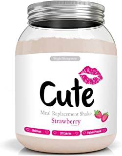 comprar comparacion Cute Nutrition Batido Sustitutivo de Comida Sabor Fresa para el Control de la Pérdida de Peso en Polvo Bebida Dietética pa...