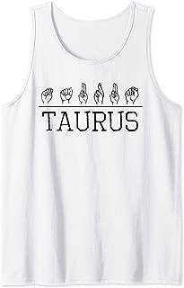 Deaf Pride ASL Taurus Born April May Astrology Birth Sign Tank Top