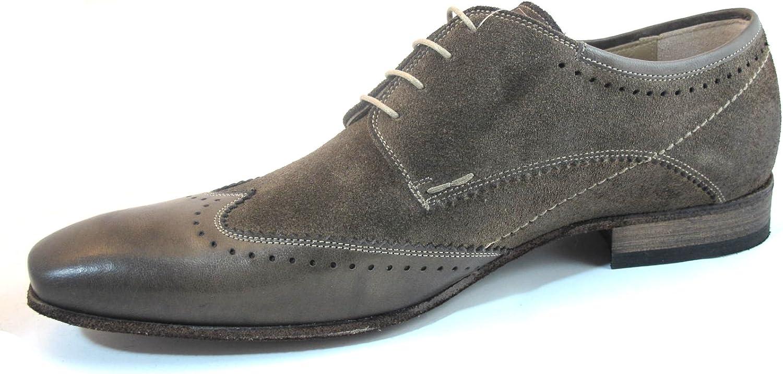DaVinci Men's Italian Dressy Wingtip Oxford Shoes 9611